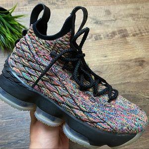 Boys Nike LeBron 15 XV Cereal Fruity Pebbles